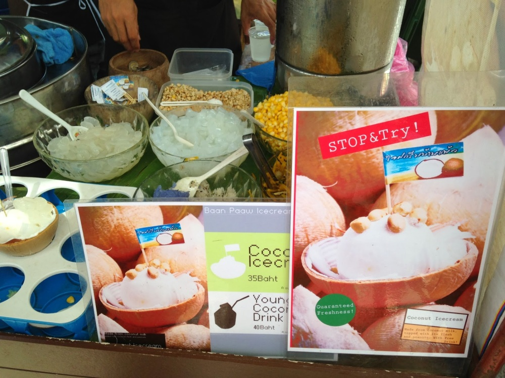 3. Coconut Ice Cream at Chatuchak Weekend Market
